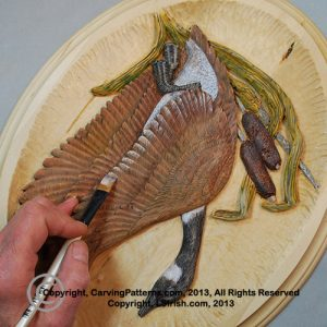 How to paint your wood carvings by Lora Irish