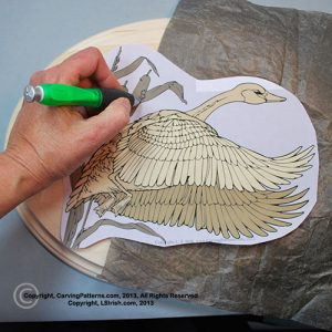 How to trace a relief wood carving pattern by Lora Irish