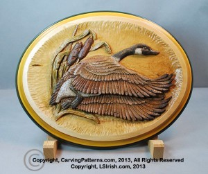 Relief Wood Carving Canada Goose by Lora Irish, Free Project