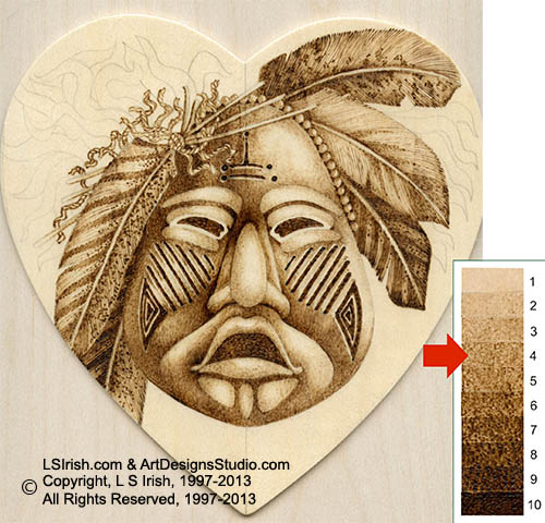 Pyrography contrasting tonal values by lora irish