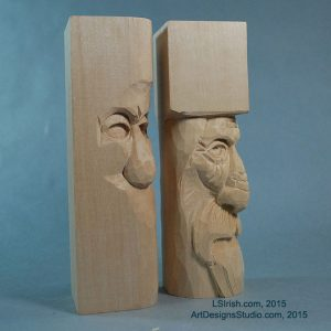 Free Wood Spirit Carving Project by Lora Irish