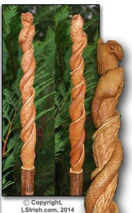 Free Cane Carving Wood Project - Twistie Sticks by Lora Irish