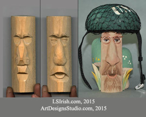 Wood Carving the Human Face, Wood Spirit Carving by Lora Irish