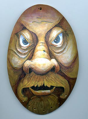 Gourd Art Wood Spirit Mask Free Project By Lora Irish