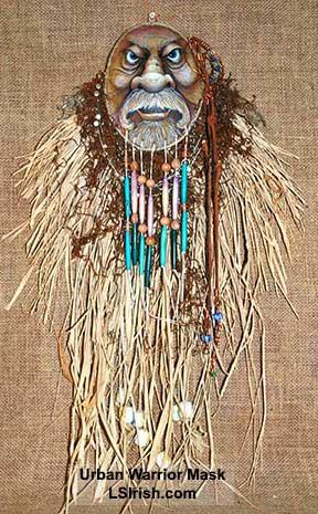 Gourd Art Wood Spirit Mask, Free Project by Lora Irish