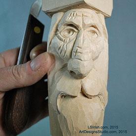 wood carving the wood spirit with Lora Irish