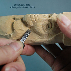 wood carving the wood spirit with Lora Irish
