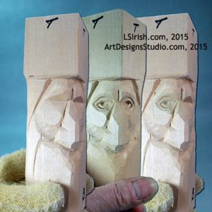 how to wood carve Wood Spirit eyes