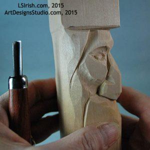 free wood spirit carving