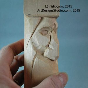 cutting the eye lids of the wood spirit