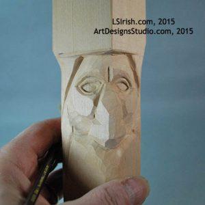 Carving wood spirit eyes