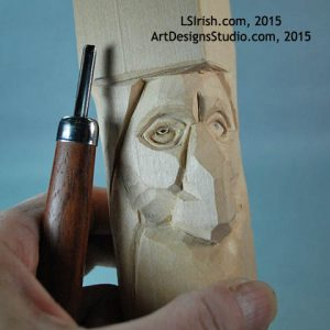 wood carving the pupil of the eye
