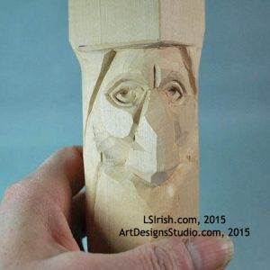 wood carving the wood spirit eye