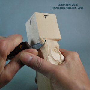 free Lora Irish wood carving project