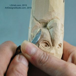 how to carve a wood spirit