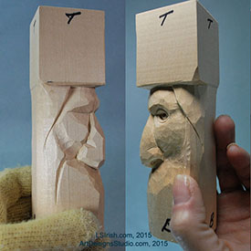 Wood Spirit Carving, 14 Refining the Face Shape – Classic ...