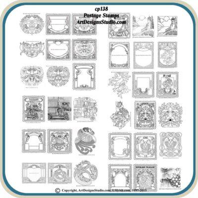 Postage Stamp Patterns by Lora Irish