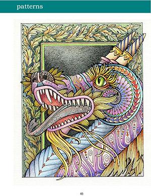 Adult Coloring, Colored Pencil Portraits E-Book