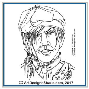Adult Coloring Portrait Patterns